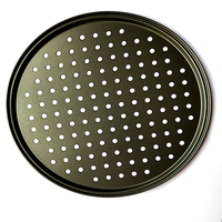 Carbon Steel Nonstick Pizza Baking Pan Tray 32cm Pizza Plate Dishes Holder Bakeware Home Kitchen Baking Tools Accessories|Pizza Tools| |  -