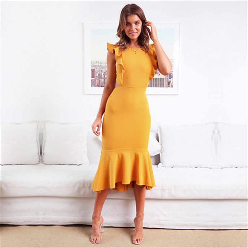 Sexy para mujer vestido Maxi ropa vendaje vestido largo sin mangas vestido de verano vaina fiesta damas de honor bata Longue mujer vestido de verano