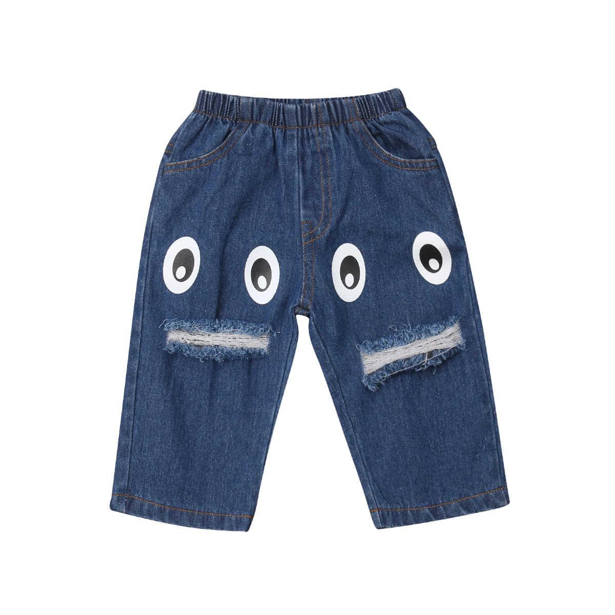 Ninos Bebe Ninos Denim Ojos Agujero Pantalones Largos Pantalones De Nino Pantalones Casual Vaqueros Aliexpress