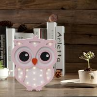 Cute Girl Style Owl Night Light Wooden Bedside Table Lamp Decoration Children's Room Bedroom Hanging Lamp Decoration 2019
