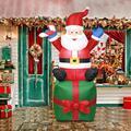 Надувной Санта-Клаус на открытом воздухе рождественские украшения для дома двора украшения сада Счастливого Рождества Добро пожаловать ар...