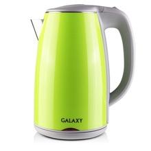 Чайник электрический Galaxy GL 0307 зеленый (Мощность 2000 Вт, объем 1.7 л, термоизолированный корпус, вращение 360°, автоотключение)