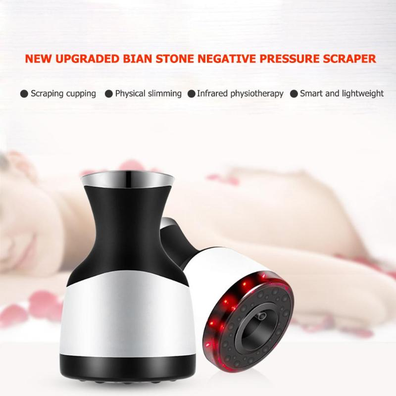 Electric Cupping Massage Stimulate Acupoint Body Massager Infrared Scraping Massager Healthy Fat Acupoint in Massage Relaxation from Beauty Health