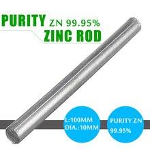 """99.95% di zinco Zn Canne Da 0.4 """"x 4"""" Purezza Anodo Galvanica Solido Rotondo Bar Durable Universale per Anodo Galvanica di zinco di Placcatura"""