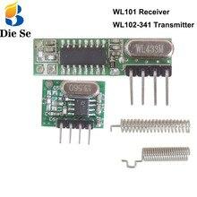 Módulo rf 433 mhz superheterodyne receptor e kit transmissor com antena para arduino uno diy kits 433 mhz controle remoto