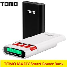TOMO M4 Smert Power Charger 4x18650 Li-Ion Battery Charger DIY Mobiele Smart Power Bank Oplader Lcd-scherm Dual uitgang(China)
