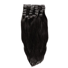 YONNA Remy Human Hair Clip in Extensions Double Weft Long Soft Straight 10 Pieces Thick to Ends Full Head(China)