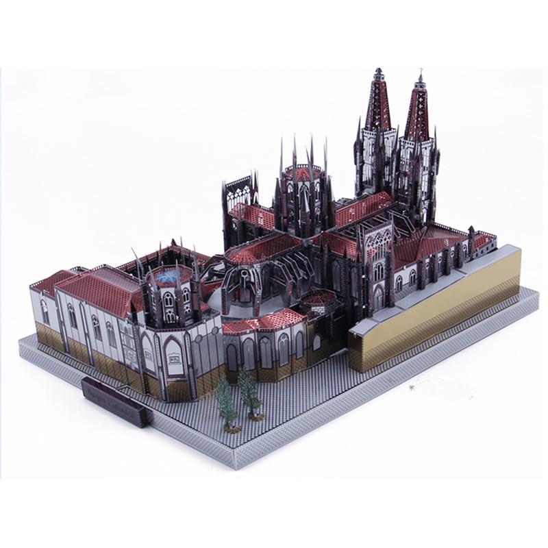 Nouvelle Mini Puzzle Puzzles Burgos Cathédrale Modèle 3D casse-tête en métal bricolage Assemblée kit de maquette Jouets