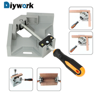 DIYWORK Woodworking Welding Positioner Quick Assembly Fixture 90 Degree Corner Right Angle Clamp Welding Fixed Clip