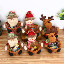 New Christmas Decoration Candy Basket Tabletop Decorations, Childrens Baskets