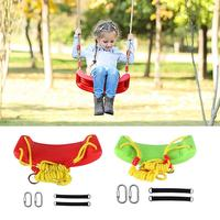Children's Outdoor Terrace Swing Seat Toy Green Plastic Garden Tree Swing Rope Seat Molded Children's Chair Safe And Practical