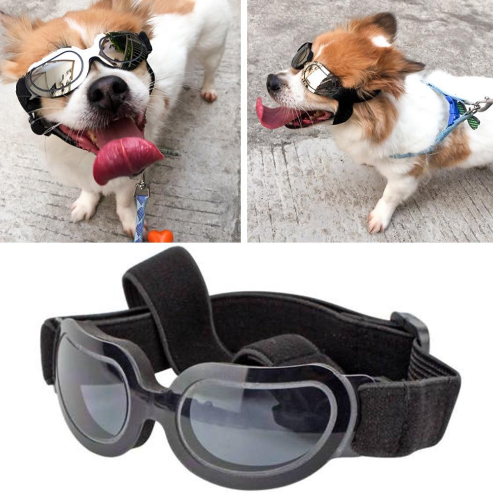 Adjustable font b Pet b font Dog Goggles Sunglasses Anti UV Sun Glasses Eye Wear Protection