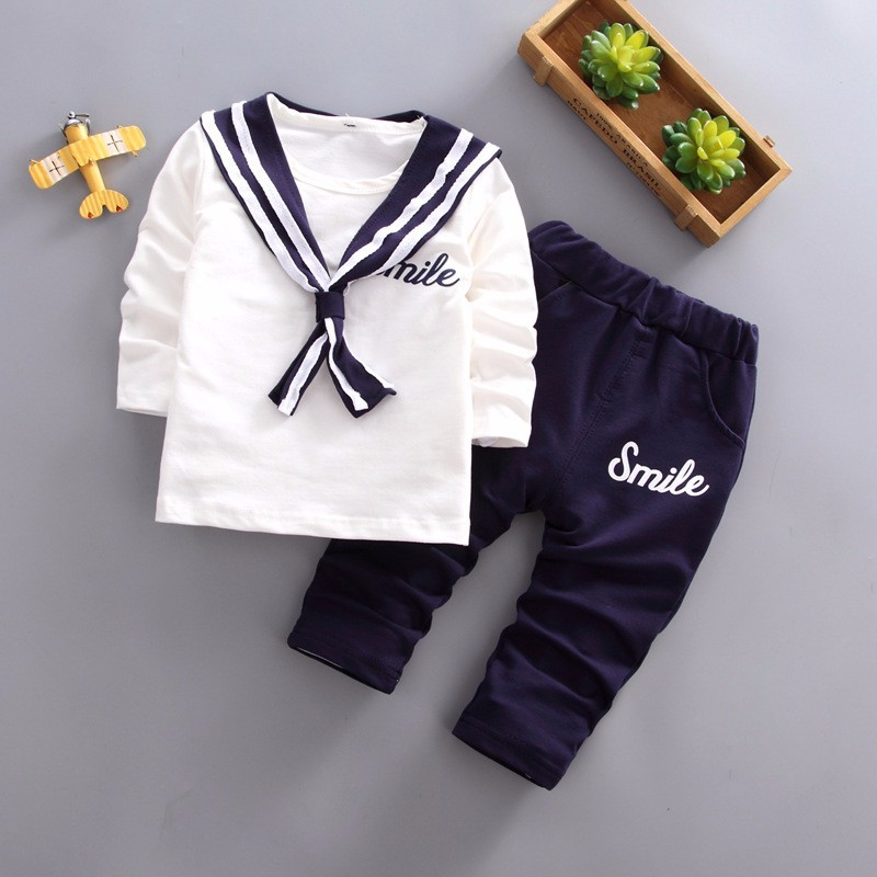 Dashing 2019 New Spring Summer Children Boys Girls Leisure Clothes Baby Navy Suit Pants 2pcs/sets Kids Fashion Toddler Cotton Tracksuits Fine Workmanship Mother & Kids