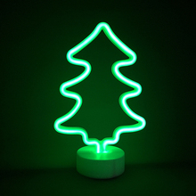 Christmas tree night lighting desk lamps home decoration kid's lights 3AA batteries operated neon LED lamp party decor