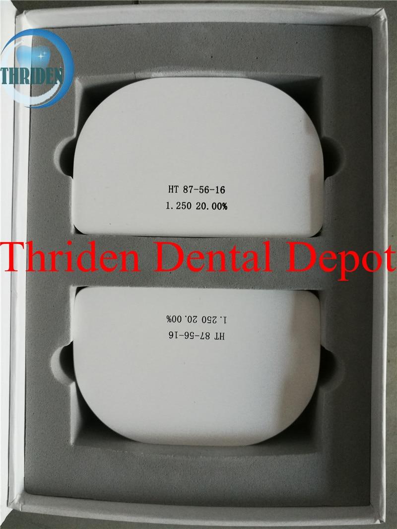Bloc dentaire de zircone de système de CAD/CAM du manuel 87*56*16 de 2 pièces/lot HT Zirkonzahn pour des blocs en céramique de Zirconium de fraiseuse