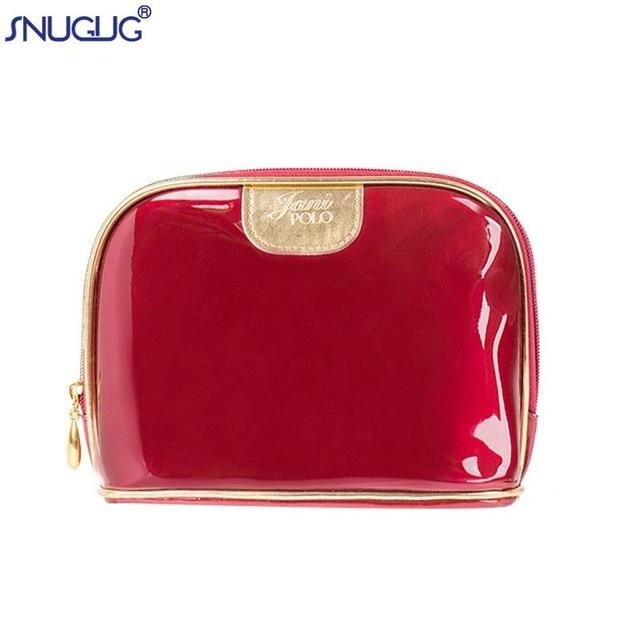 37eca4fdb1c9 SNUGUG Women Female Travel Portable PU Cosmetic Bags Bright Color Cosmetic  Bag Woman Bags Makeup Bag