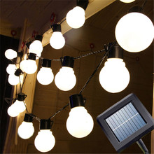 5cm Big ball 2.5M or 5M Solar led String light outdoor Decorative Fairy lighting for Christmas trees,Patio.Party