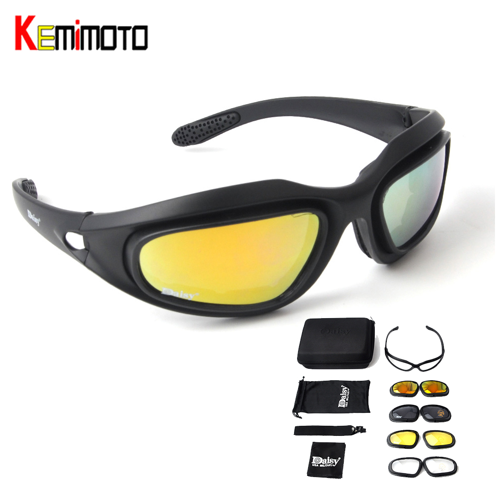 Kemimoto Motorcycle Glasses Clear-Lens Polarized Antifog Eye-Protection for Shooting