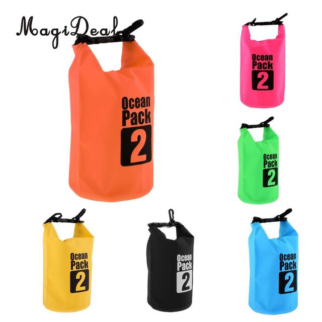 MagiDeal 2L PVC Waterproof Dry Bag Sack for Canoe Kayak Boating Kayaking Floating Dinghy Fishing Surfing Camping Accessories