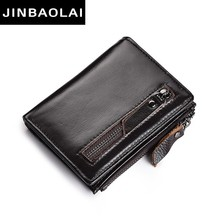 hot deal buy men wallets 3 color male purse genuine leather wallet with coin pocket zipper short credit card holder wallets soft slim wallets