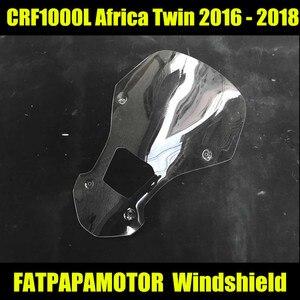 CRF1000 L аксессуары для мотоциклов лобовое стекло черный и прозрачный для Honda CRF1000L Африка Twin 2017-2018
