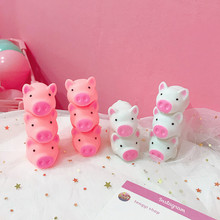New Squishying Pink Pig Cartoon Soft Cute Animal Squeeze Sound Squeezing Called Slow Rising Decompression Toy
