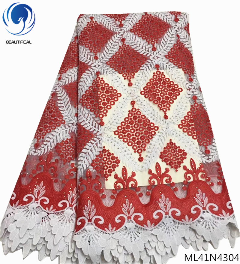 BEAUTIFICAL embroidery latest african laces 2019 french rhinestones tulle mesh fabric african lace 5 yards for women ML41N43BEAUTIFICAL embroidery latest african laces 2019 french rhinestones tulle mesh fabric african lace 5 yards for women ML41N43