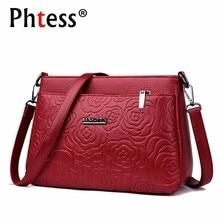 2019 Women Messenger Bags Small Leather Shoulder Bag Female Sac A Main Vintage Bags For Girls Envelope Flower Crossbody Bag New