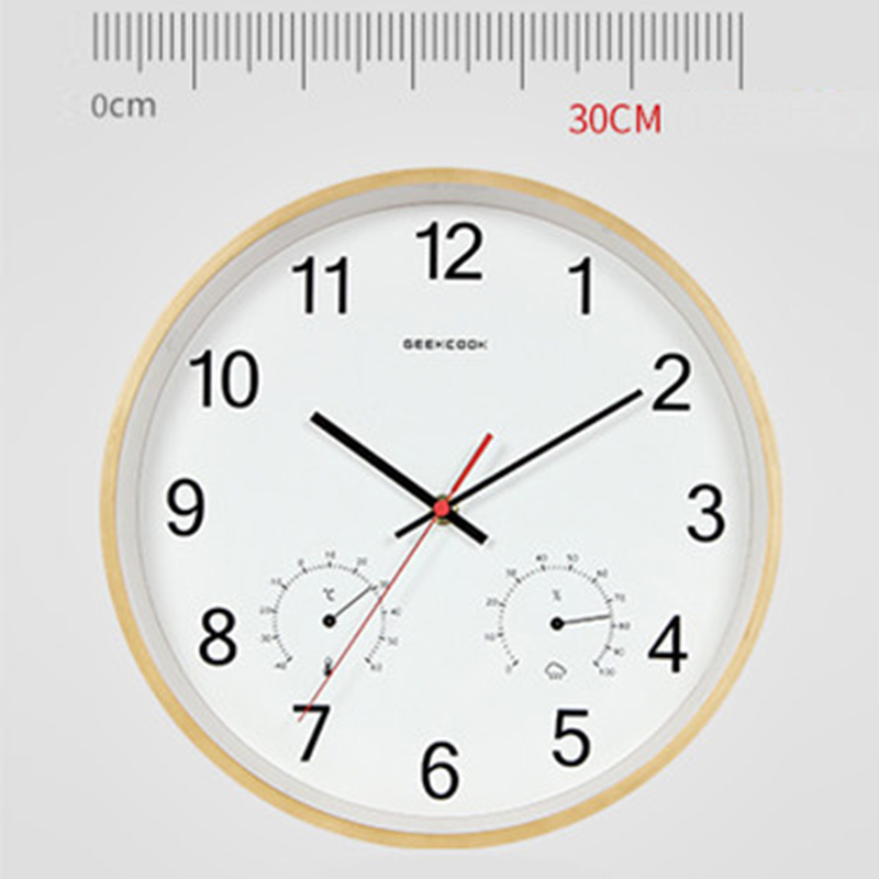 Image 4 - Geekcook 12 Inch Classic Wooden Wall Clocks Silent Quartz 