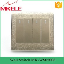 New design best price MK-WS05008 Impact resistance wholesale classical 4 Gang 2 way switch led touch light
