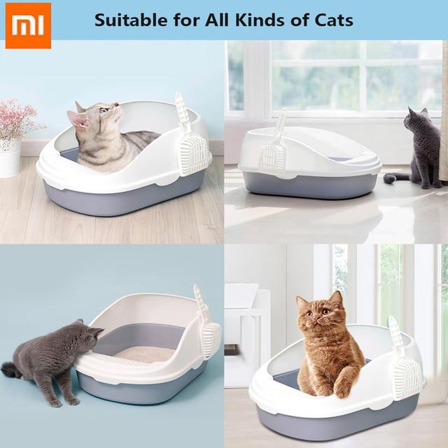 Xiaomi Youpin Semi-Open Cat Litter Box Pet Supplies Portable Cat Litter Bowl Toilet Bedpans Excrement Training Sand Litter Box