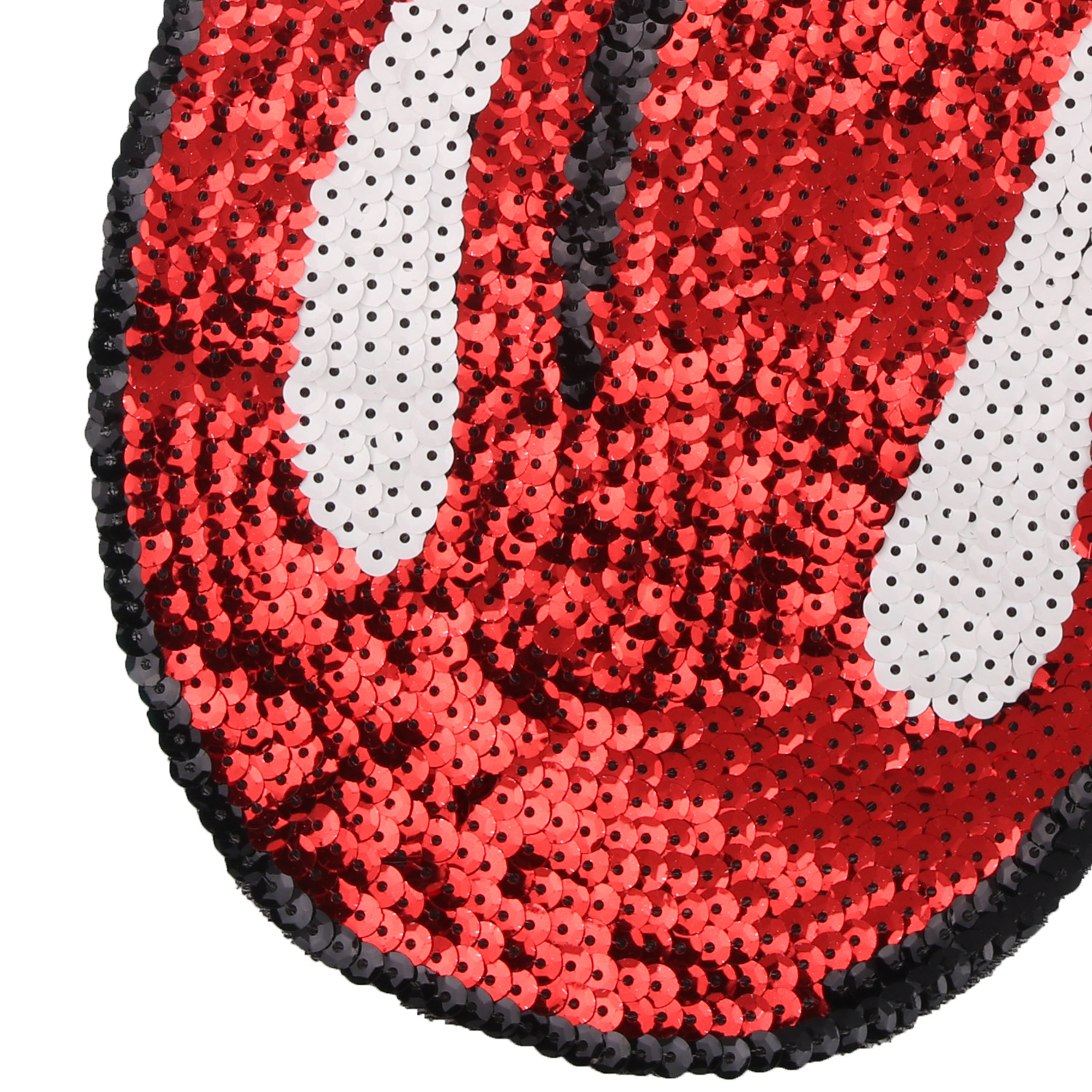 Red lip The Rolling Stones Sew on Appliques Clothes Embroidered sequins  patches for clothing DIY Motif Rock and roll Tide brand-in Patches from Home  ... 700bfdb14e05