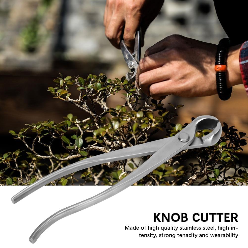 Tools : Knob Cutter Bonsai Cutter Concave garden bonsai tools chopper scissors Hand tool flower secator 210mm Stainless Steel