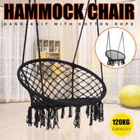 Round Hammock Swing Hanging Chair Outdoor Indoor Furniture for Garden Dormitory Children Adult Comfortable Chair Hammock Bed
