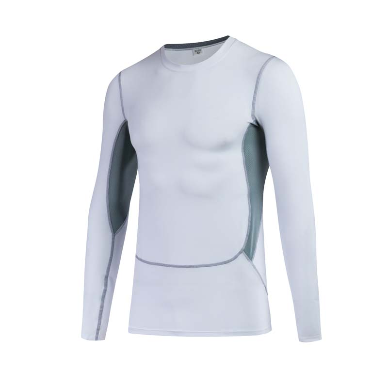 New Listing Men Pro Tight Training T Shirt Sports Fitness Running Elastic Quick-drying Long Sleeve T-Shirt Tops Tees