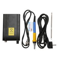 1 Set Programmable Soldering Iron OLED Portable T12 Digital Soldering Iron Station Auto Sleep Buzzer Kit New(China)
