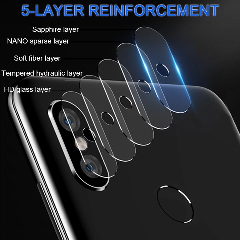Camera Lens Tempered Glass On For Xiaomi Mi Max 3 Mix 3 A2 Lite Pocophone F1 Camera Protector Glass For Redmi Note 7 6 8 Pro 7A
