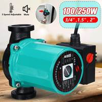 3 Speed 220V Central Heating Circulator Mute Boiler Hot Water Circulating Pump F Class Insulation IP42 Protection Cast Iron