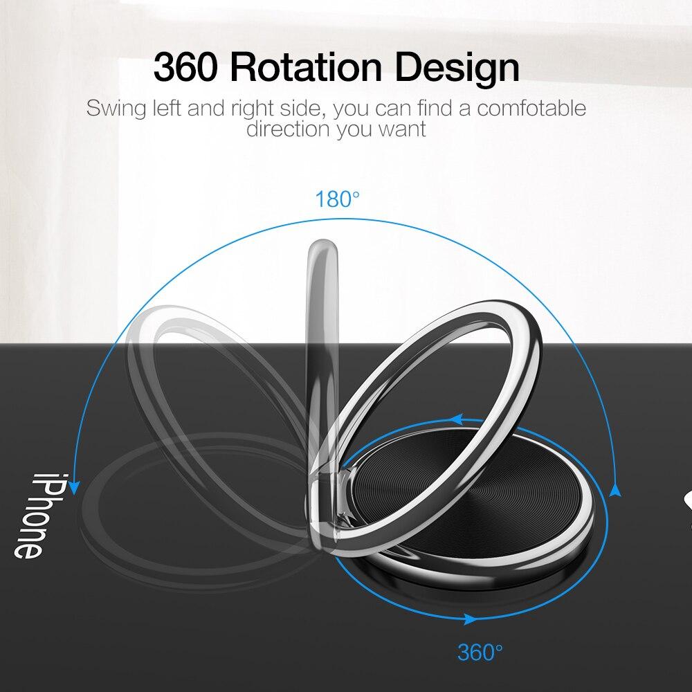 CASEIER Metal Finger Ring Holder Stand For Samsung S10 s9 s8 Mobile Phone Ring bracket Finger Soporte para anillo de dedo del in Phone Holders Stands from Cellphones Telecommunications