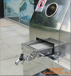 Machine de jus de canne à sucre commerciale en acier inoxydable de bureau robuste presse à jus de canne à sucre 110 V moulin à canne à sucre