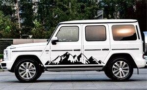Image 3 - 2x Black Snow Mountain decal Vinyl Sticker for Off Road Camper Van Motorhome