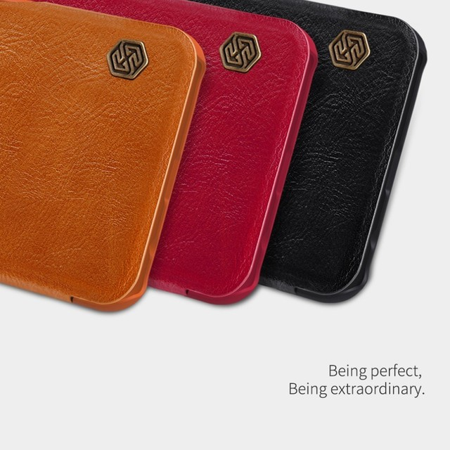 leather case for Samsung Galaxy M20 Nillkin QIN Protective flip Cover wallet Case for Samsung Galaxy M20