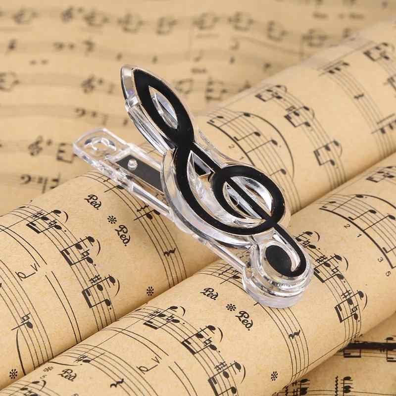 פלסטיק מוסיקלי הערה מכתב נייר קליפ פסנתר מוסיקה ספר נייר גיליון אביב מחזיק תיקיית עבור פסנתר גיטרה כינור ביצועים Sta