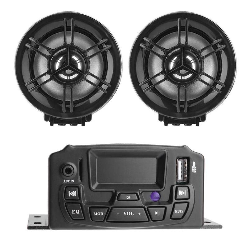 DC 12V 3Inch LCD Motorcycle Speaker Stereo Sound System Music MP3 Player Kit Anti-thief Loudspeaker USB/TF Card Moto Radio