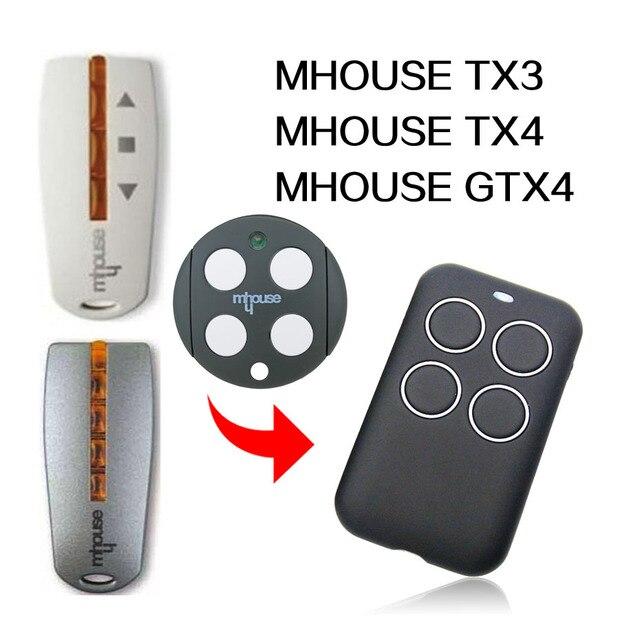 MHOUSE TX3 TX4 GTX4 telecomando per cancello telecomando per porta del garage MHOUSE 433MHz