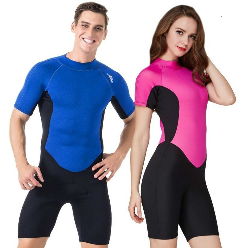 Sbart New Conjoined With Short Sleeves, 2 Mmmm Thick Wetsuit Jellyfish Men Women Clothing Comfortable Take Warm Sun Quick drying
