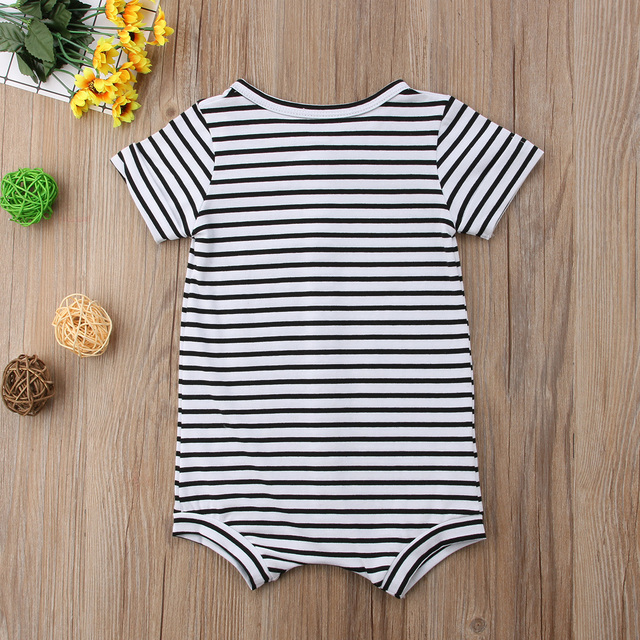 2019 Brand New Toddler Newborn Baby Boys Girl Striped Romper Infant Boy Girl Jumpsuit Cotton Short Sleeve Casual Summer Clothing 3
