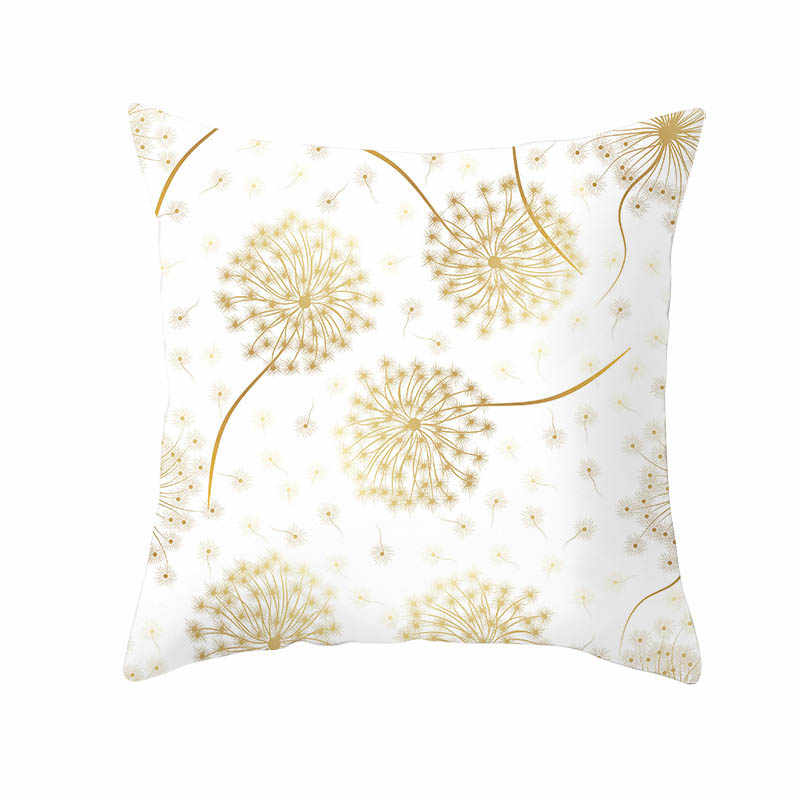 Наволочка с золотыми цветами и листьями, 45*45 полиэстер, подушки для дома, мягкие декоративные наволочки для дивана, подушка на стул, чехлы