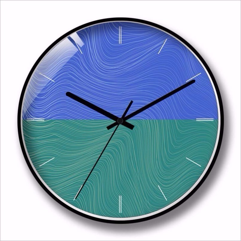 New Wall Clock Large Size Luxury Silent Movement Clocks Metal Rounds Precise Sweep Wall Clocks Modern Design For Home Decoration