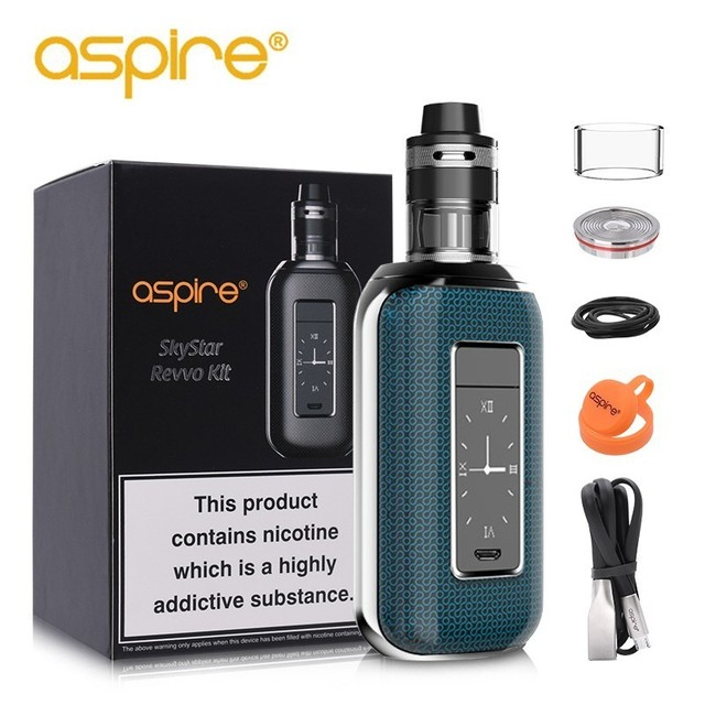 Special Offer Electronic Cigarette Aspire SkyStar Revvo High Power Vape Kit 210W Box Mod Powered by 18650 battery(no cell)